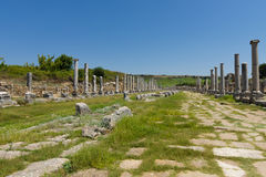 Ancient ruins of Perge. Royalty Free Stock Photography