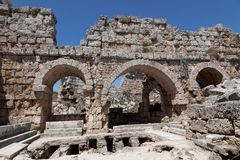 Ancient Ruins Perge Turkey Stock Photo