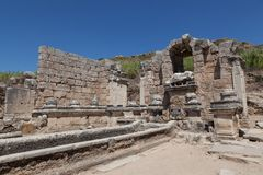 Ancient Ruins Perge Turkey Royalty Free Stock Photos