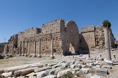 Ancient Ruins Perge Turkey Royalty Free Stock Images