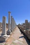 Ancient Ruins Perge Turkey. Ancient city of Perge near Antalya Turkey Royalty Free Stock Photography
