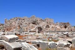 Ancient Ruins Perge Turkey. Ancient city of Perge near Antalya Turkey Royalty Free Stock Photos
