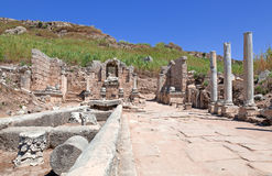 Ancient Ruins Perge Turkey. Ancient city of Perge near Antalya Turkey Royalty Free Stock Images