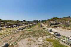 Ancient ruins of Perge. Royalty Free Stock Photo