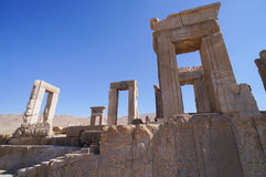 Ancient ruins of Persepolis, the ceremonial capital of the Achaemenid Empire. UNESCO World Heritage stock image