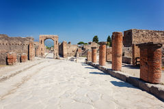 Ancient ruins of Pompei Royalty Free Stock Images