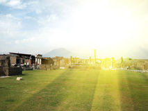 Ancient ruins of Pompeii Stock Photo