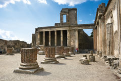 Ancient ruins in Pompeii Stock Photo