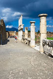 Ancient ruins of Pompeii Stock Photography