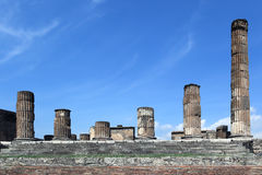 Ancient ruins of old town, Pompeii - Italy Royalty Free Stock Photos