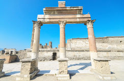 Ancient ruins of Pompeii, Italy. Stock Image