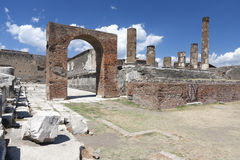 Ancient Ruins Of Pompeii Stock Photo