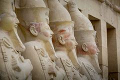 Ancient ruins of Queen Hatshepsut Temple, Luxor, Egypt Stock Image
