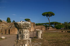The ancient ruins in Roma Royalty Free Stock Images