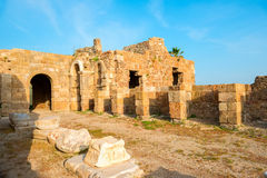 Ancient ruins Roman Empire, Side, Turkey, Stock Image