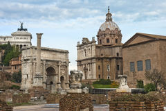 Ancient ruins of the Roman Forum Royalty Free Stock Images