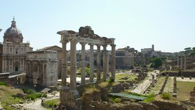 Ancient ruins | Roman Forum, Italy stock footage