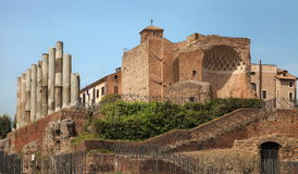 Ancient ruins in Roman Forum, Rome, Italy Stock Photography