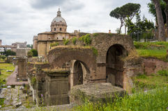Ancient ruins, Roman Forum. Rome, Italy. Ancient amazing ruins of Roman Forum. Rome, Italy Royalty Free Stock Photos