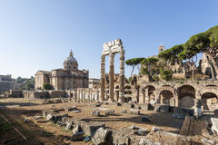 Ancient ruins of the Roman Forum Royalty Free Stock Photo