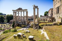 Ancient ruins of roman forum in Rome, Lazio, Italy Royalty Free Stock Image