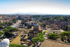 Ancient ruins of roman forum in Rome, Lazio, Italy Stock Images