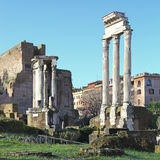 Ancient ruins in roman forum, Rome Stock Photos
