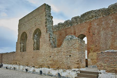 Ancient ruins of Roman Odeon, Patras, Peloponnese, Greece Royalty Free Stock Images