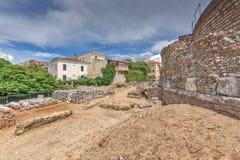 Ancient ruins of Roman Odeon, Patras, Peloponnese, Greece stock photo