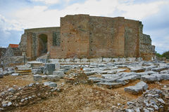 Ancient ruins of Roman Odeon, Patras, Peloponnese. Western Greece Royalty Free Stock Photos