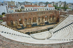 Ancient ruins of Roman Odeon, Patras, Peloponnese. Western Greece Royalty Free Stock Images
