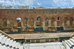 Ancient ruins of Roman Odeon, Patras, Peloponnese royalty free stock images