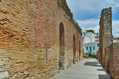 Ancient ruins of Roman Odeon, Patras, Peloponnese. Western Greece Royalty Free Stock Photo