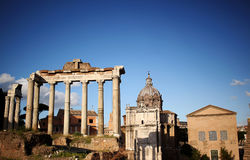 Ancient ruins. Roman ancient ruins , Rome, Italy Stock Image