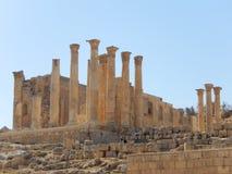 ANCIENT RUINS, ROMAN TEMPLE, JERASH, JORDAN Stock Photography