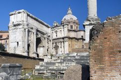 Ancient ruins in Rome Royalty Free Stock Photos