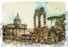 Ancient Ruins of Rome Stock Image