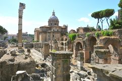 Ancient ruins in Rome , Italy Royalty Free Stock Photos