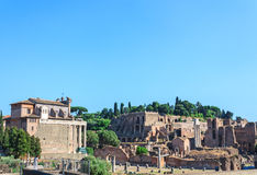 Ancient ruins in Rome Royalty Free Stock Photo