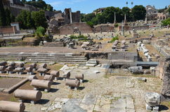 Ancient ruins in Rome,Italy. Ancient buildings in Italy, Rome Stock Photography
