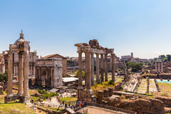 Ancient ruins in rome Stock Image