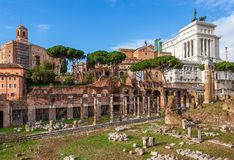 Ancient ruins. Rome, Italy. Royalty Free Stock Image
