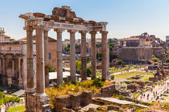 Ancient ruins in rome Stock Images