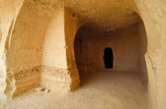 Ancient ruins. Ancient rooms carved into the rock. Avdat National Park World Heritage Sate. Israel Stock Image