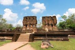 Ancient ruins of royal palace Stock Images