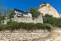 Ancient ruins of Saint Barbara church in town of Melnik, Bulgaria Stock Photo