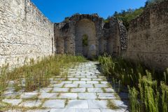 Ancient ruins of Saint Barbara church in town of Melnik, Bulgaria Royalty Free Stock Images