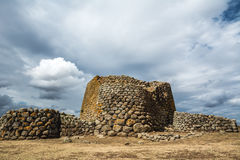 Ancient ruins in Sardinia, Italy. Nuraghe Losa is a beautiful historic building in the west of Sardinia, Italy. Nuraghic sites are archaeological remnants of Stock Photos