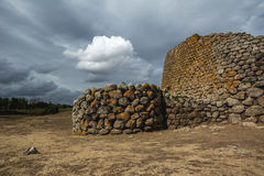 Ancient ruins in Sardinia, Italy. Nuraghe Losa is a beautiful historic building in the west of Sardinia, Italy. Nuraghic sites are archaeological remnants of Royalty Free Stock Photography