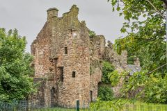Ancient Ruins of Seagate Castle Irvine Scotland Visited by Mary Queen of Scots. Ancient Ruins of Seagate Castle  Irvine North Ayrshire Scotland where the Treaty royalty free stock photography